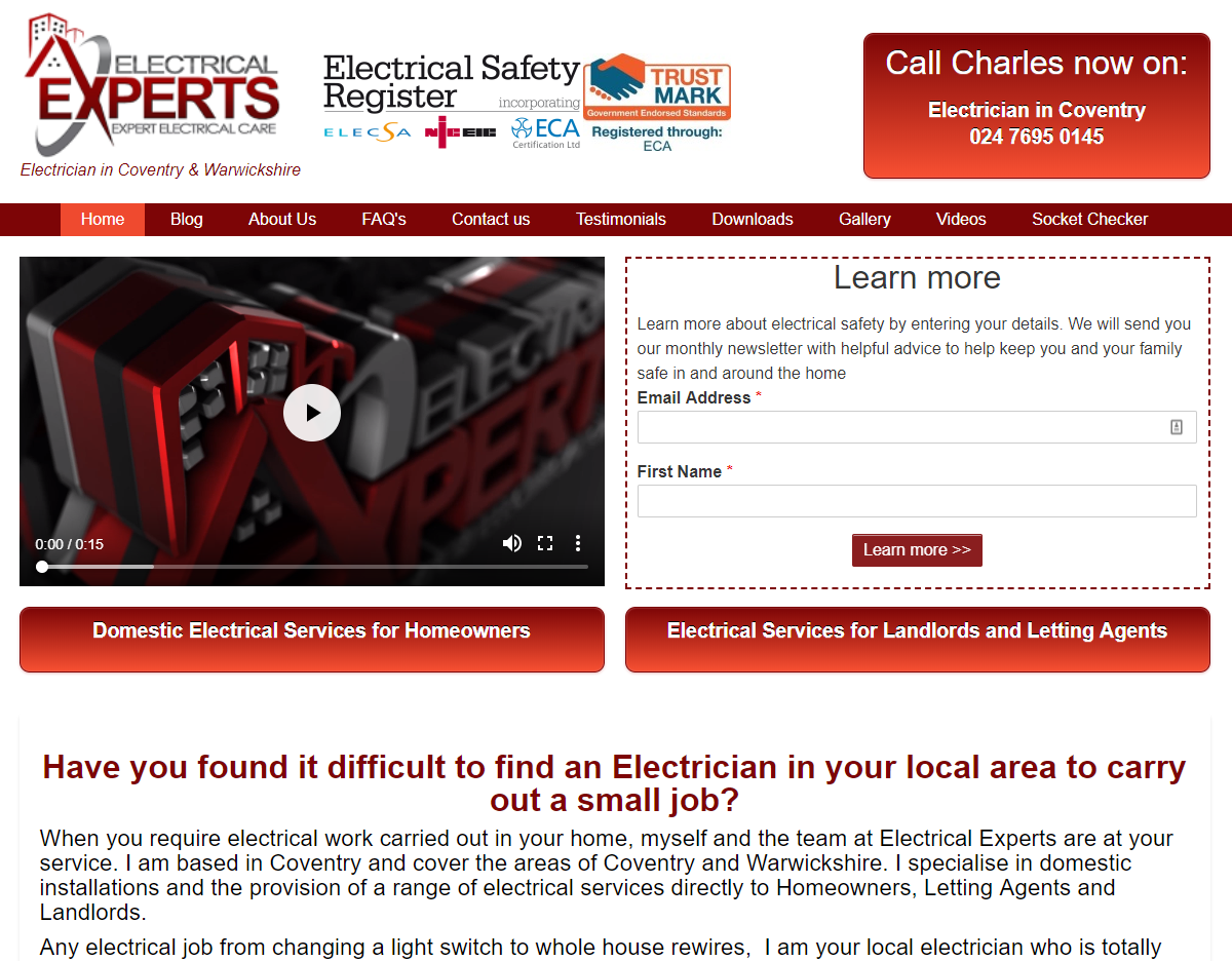 Electrician in Coventry