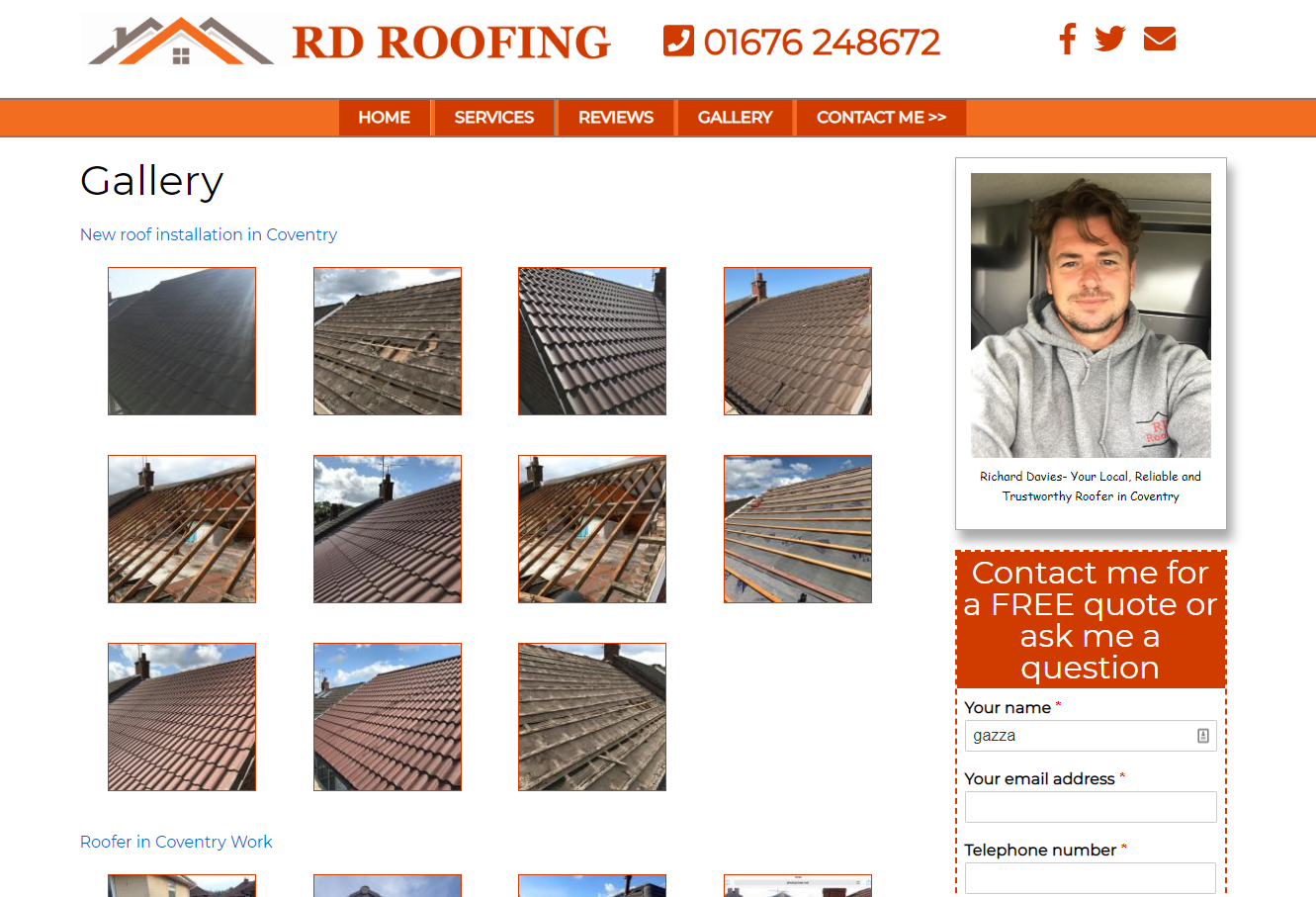 Roofer in Coventry